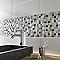 Carrelage mur blanc 20 x 50 cm COLOURS Nabuko (vendu au carton)