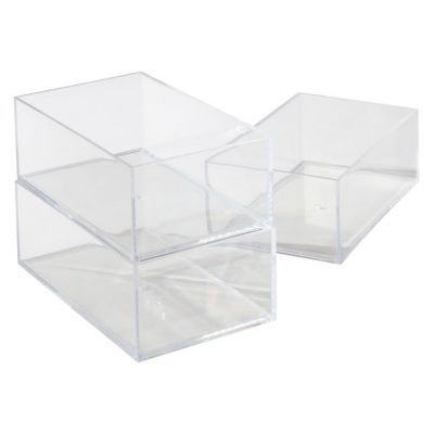 3 bo tes plastique transparent cooke lewis wind castorama. Black Bedroom Furniture Sets. Home Design Ideas