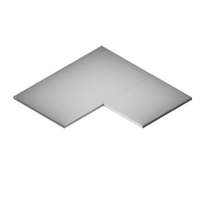 2 tablettes d 39 angle blanc form darwin 55 x 27 x 1 8 cm. Black Bedroom Furniture Sets. Home Design Ideas