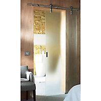 Porte coulissante verre dépoli Geom Soyo 83 cm