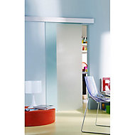 Porte coulissante verre dépoli Geom Kidal 93 cm