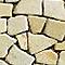 Frise galet plat jaune marbre 10 x 30 cm SWABINA