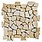 Mosaïque galets plats jaune 32 x 32 SWABINA Marbre