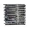 Mosaïque verre argent 30 x 30 cm Nasseo