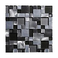 Mosaïque mix gris et bleu 30 x 30 cm Jada
