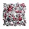 Mosaïque aluminium motifs ronds rouge et argent 30 x 30 cm Jada