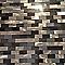 Mosaïque aluminium beige et marron 30 x 30 cm Benoito