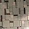 Mosaïque verre mix blanc argent 30 x 30 cm Cuma