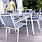 Table de jardin métal rectangulaire BLOOMA Belem grise 207 x 107 cm