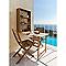 Table de balcon 2 en 1 aland pliante 111 x 60 cm