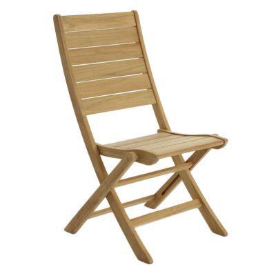 Chaise de jardin en teck brugge pliante