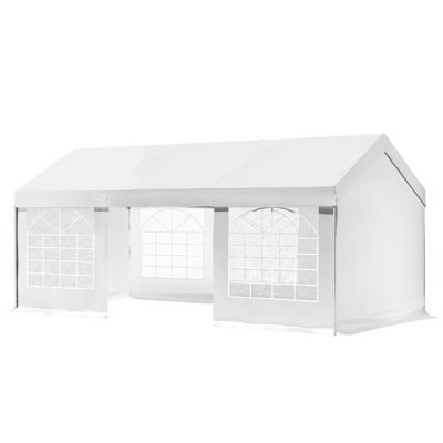 Tonnelle blooma betty 4 x 8 m blanche castorama for Aspirateur piscine blooma
