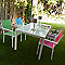 Table de jardin en verre Atlantis 150 x 90 cm