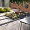 Fauteuil de jardin en métal Belem gris