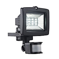 Projecteur LED à détection Blooma Arion noir 9x0,5W