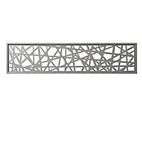 Panneau décor en alu Idaho gris clair 177 x 42 cm