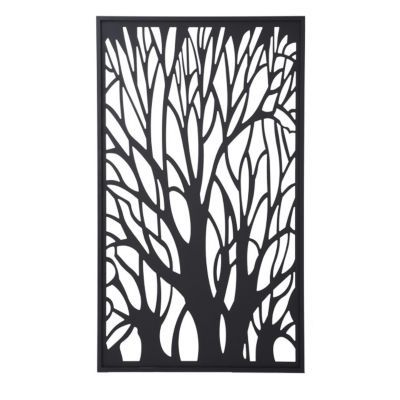 Panneau d cor arbre blooma idaho 100 x 171 cm castorama for Plaque metal decorative pour jardin