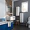 Demi colonne de salle de bains blanc Nida 25 cm