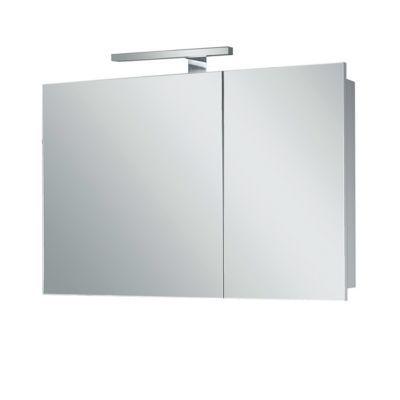 armoire de salle de bains miroir clairant blanc nida 80. Black Bedroom Furniture Sets. Home Design Ideas