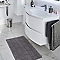 Tapis de bain antidérapant gris 85 x 55 cm Jacksonville