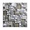Mosaïque mix aluminium marron 30 x 30 cm Jada