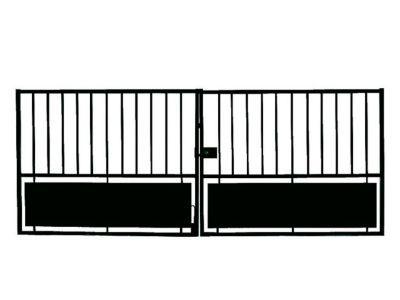 portail fer horizon noir 300 x cm castorama. Black Bedroom Furniture Sets. Home Design Ideas