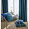 Coussin Colours Zen paon 60 x 60 cm