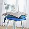 Galette de chaise COLOURS Zen paon bleu 40 x 40 cm, ép.60 mm
