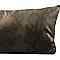 Coussin Samsova effet peau de serpent Vert 50 x 30 cm