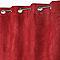 Rideau Suédine fraise 140 x 250 cm