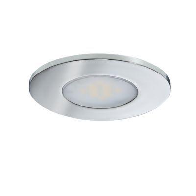 Spot a encastrer LED Diall pour salle de bains IP65 chrome Ø7 cm ...