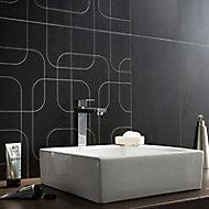 Carrelage mur décor anthracite 30 x 60 cm City rain