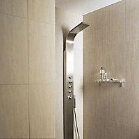 Carrelage mur décor beige 30 x 60 cm City rain