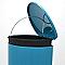 Poubelle à pédale coloris bleu 40L COOKE & LEWIS Muma