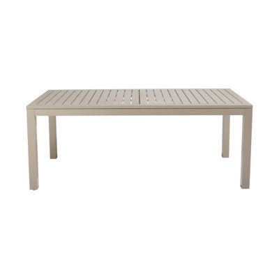Table de jardin aluminium rectangulaire blooma baleda taupe 198 251 5 x 100 cm castorama - Table jardin aluminium la rochelle ...