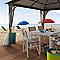 Parasol de plage BLOOMA Curaçao ø180 cm