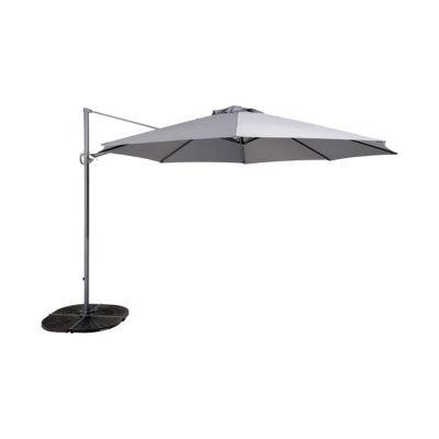 parasol d port blooma mallorca gris 350 cm castorama. Black Bedroom Furniture Sets. Home Design Ideas