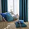Coussin COLOURS Zen bleu touareg 40 x 40 cm