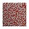 Mosaïque mix rouge brillant 30 x 30 cm Akira