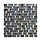 Mosaïque mix bleu 30 x 30 cm Cami