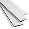 Lame PVC clipsable blanc Kitano 122 x 18 cm (vendue au carton)