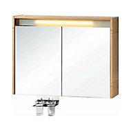 Armoire de salle de bains miroir éclairant Essential II 80 cm