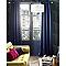 Ensemble barre à rideaux extensible COLOURS Mikie boule transparent 120/210 cm