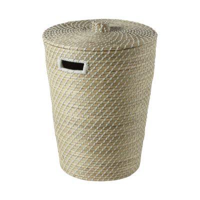 Panier à linge en fibres naturelles Malmo   Castorama bd467513b339