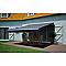 Store de terrasse semi-coffre motorisé Blooma cendre 4 x 3 m