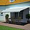 Store de terrasse semi-coffre motorisé Blooma Pure vert 4 x 3m