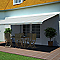 Store de terrasse semi-coffre motorisé Blooma Pure jaune 5 x 3m