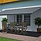 Store de terrasse semi-coffre motorisé BLOOMA lambrequin cendre 5 x 3m