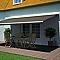 Store de terrasse semi-coffre motorisé BLOOMA lambrequin cappuccino 5 x 3m