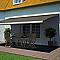 Store de terrasse coffre intégral motorisé Blooma avec LED cappuccino 5 x 3m